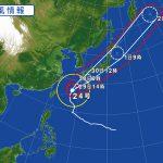 台風24号が接近しています